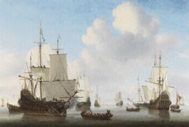 Dutch Wallcoverings Painted Memories Mural Dutch Ships 8024