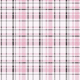 York Wallcoverings A Perfect World behang KI 0529 Polka Dot Plaid
