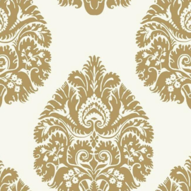 York Wallcoverings Ronald Redding 24 Karat behang Teardrop Damask KT2141