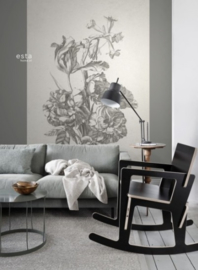 Esta Home Blush PhotowallXL Bouquet Engraving 158887