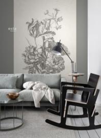 Esta Home Blush PhotowallXL Bouquet Engraving 158887