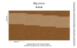 Élitis Anguille Big Croco Galuchat Big Croco behang VP 42308