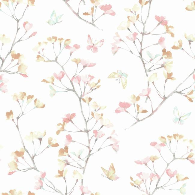 York Wallcoverings A Perfect World behang KI 0514 Watercolor Branch