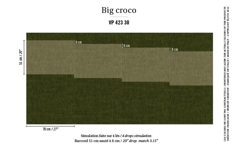 Élitis Anguille Big Croco Galuchat Big Croco behang VP 42330