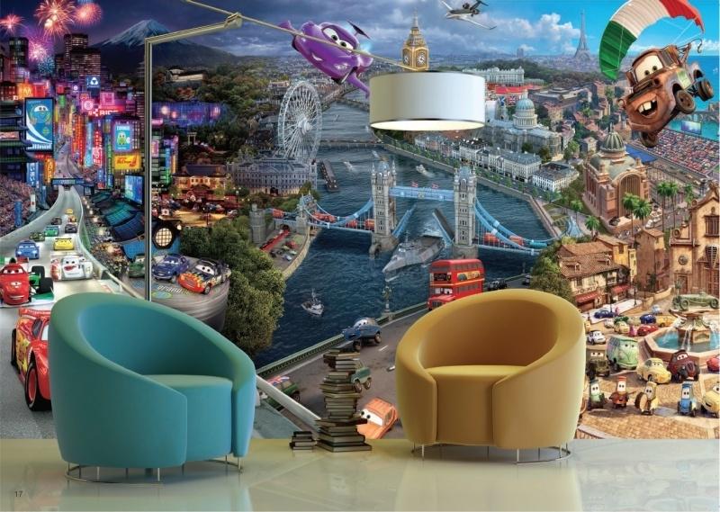 AG Design Fotobehang Disney Cars World FTD0287