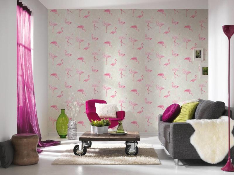 AS Creation Boys and Girls 6 behang  Flamingo 35980-1