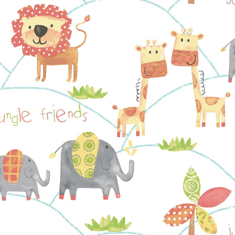 Noordwand Just 4 Kids 2 behang Jungle Friends G56023