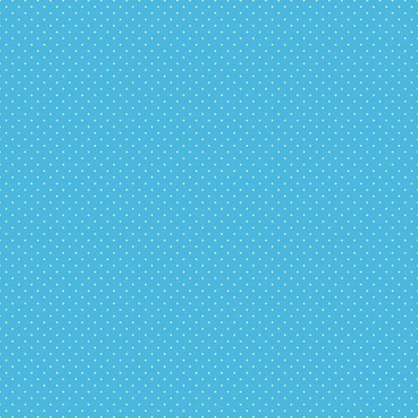 Plakplastic Polka Blauw 45CM breed x 2M