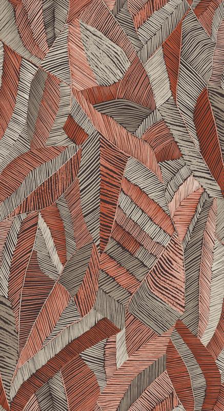 Arte Les Tricots behang Chintz Crimson 73101
