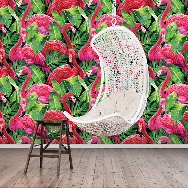 Noordwand Global Fusion Mural G45274 Flamingos