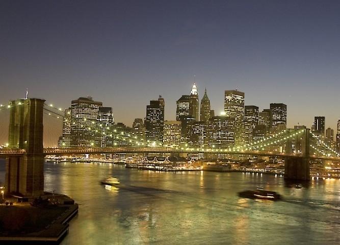 No Limits Fotobehang Nightfall over NY 30326