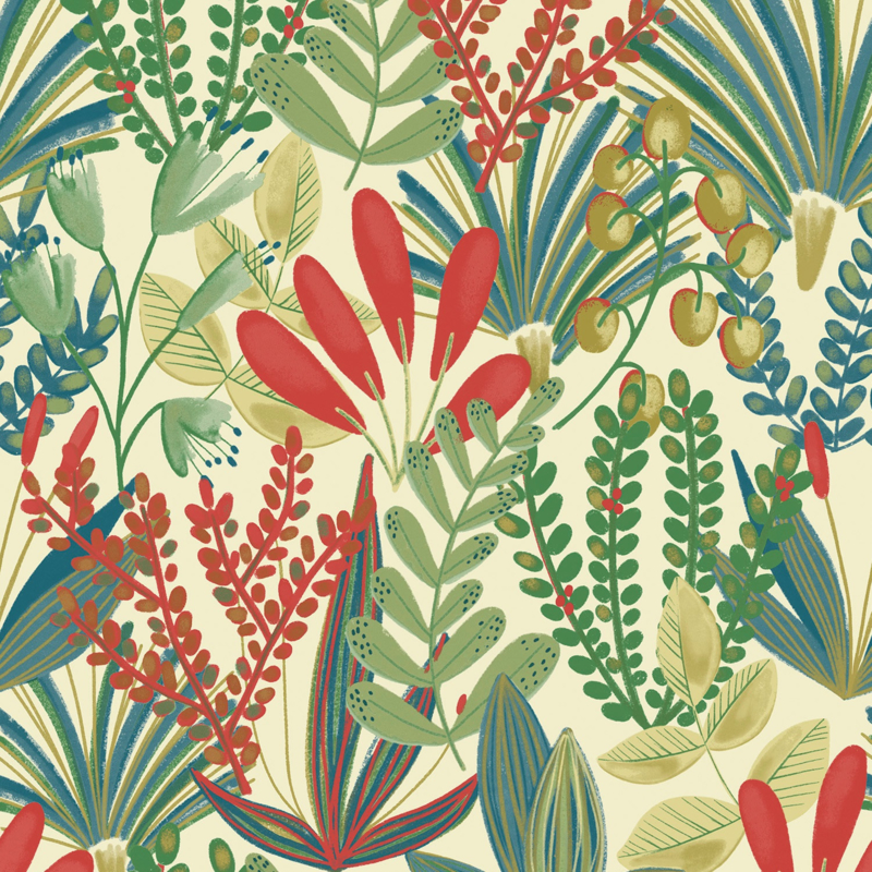 Dutch Wallcoverings Jungle Fever behang Early Blossom JF3701