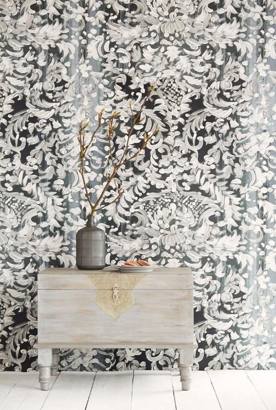 Eijffinger Black & Light Wallpower 356204 Painted Lace