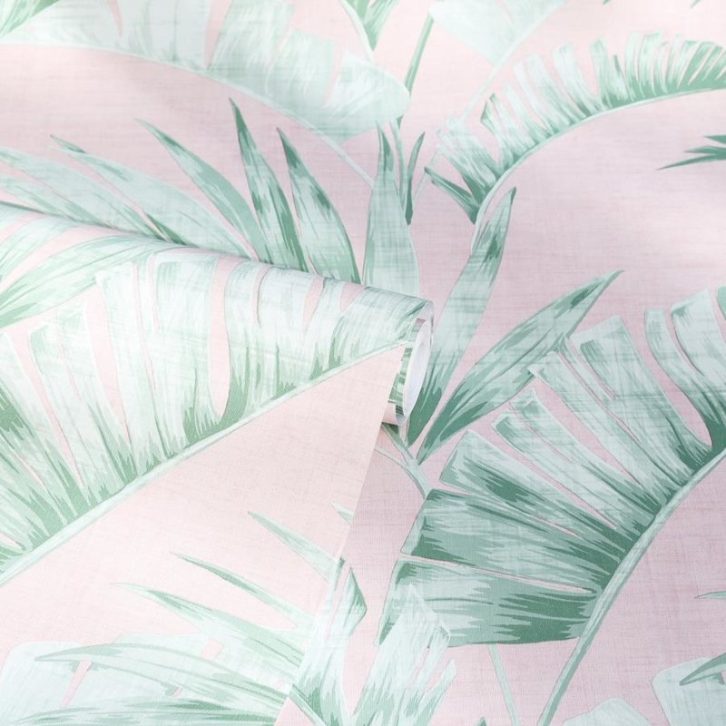 Arthouse Banana Palm Pink/Green behang 909402