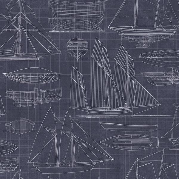 Noordwand Deauville 2 Blueprint behang G23326