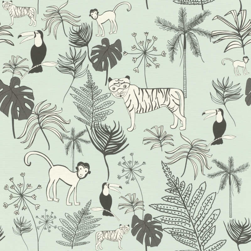 Rasch Bambino XVIII by studio Claas behang Jungle 531800