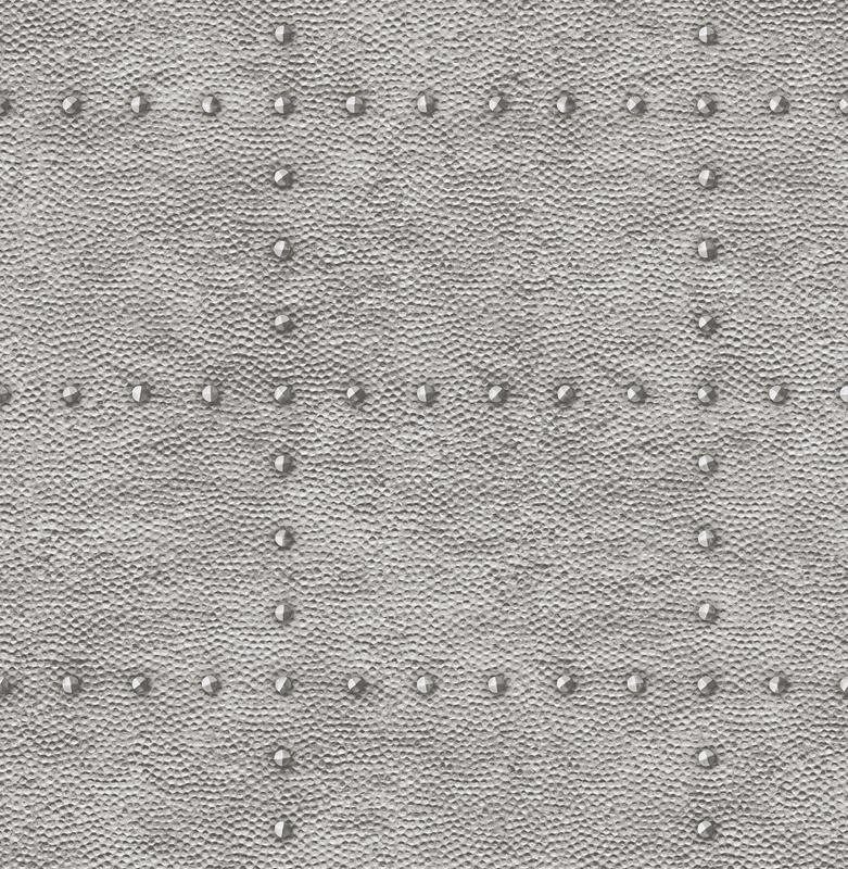 Dutch Restored Hammered Metal behang 24009