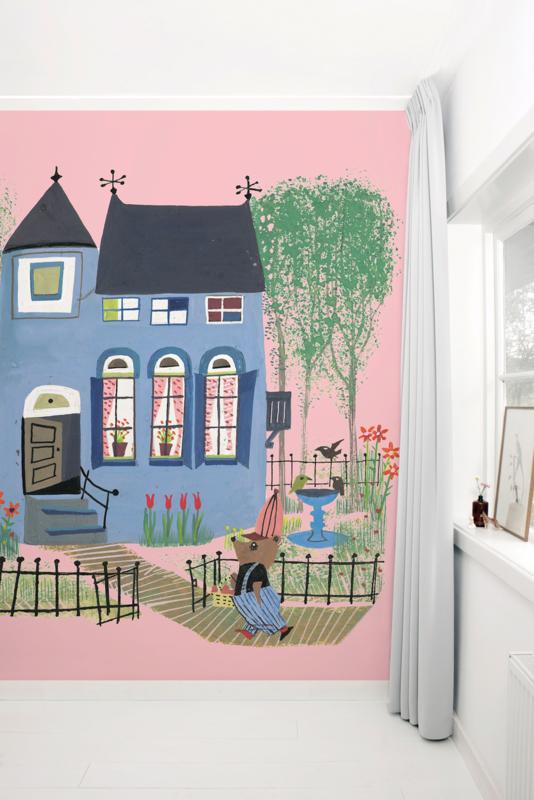 KEK Amsterdam Fiep Westendorp Mural Bear With Blue House WS-043
