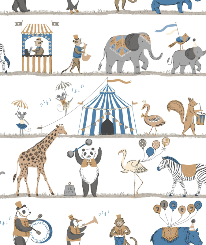 Noordwand Just 4 Kids 2 behang Circus G56546