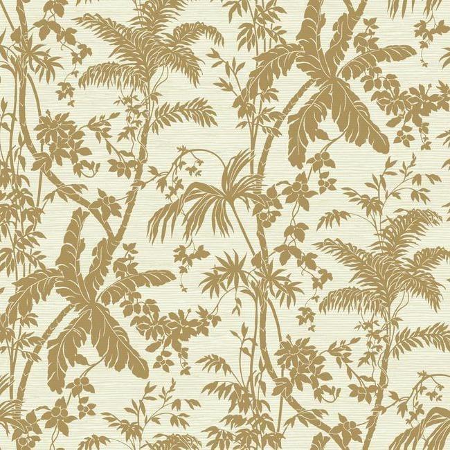 York Wallcoverings Ashford Tropics behang AT7106 Palm Shadow