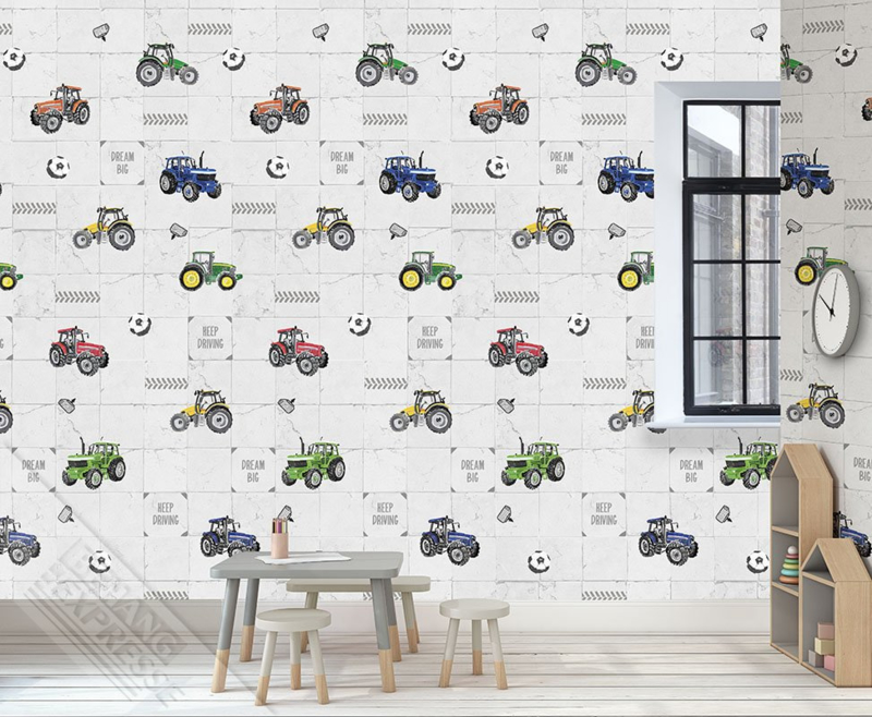Behangexpresse Abby & Bryan Wallprint Tily Tractor INK 7239