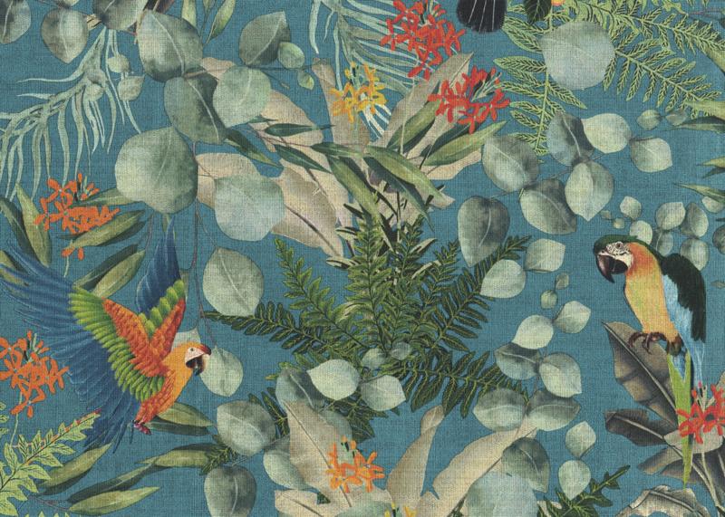 Hookedonwalls Lemuria behang Parrot 60622