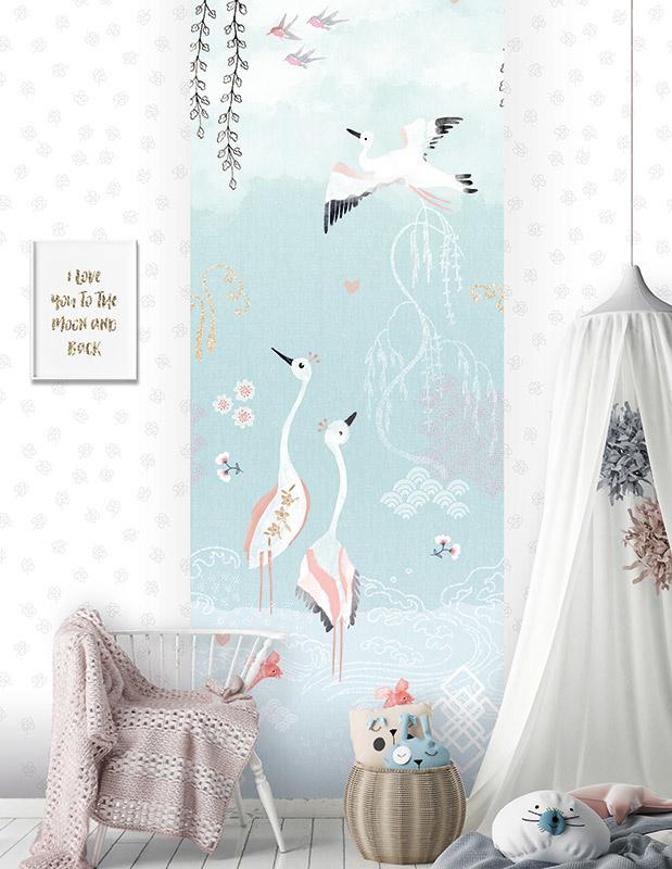 Behangexpresse Morris & Mila Wallprint Oriental Love Blue INK7267