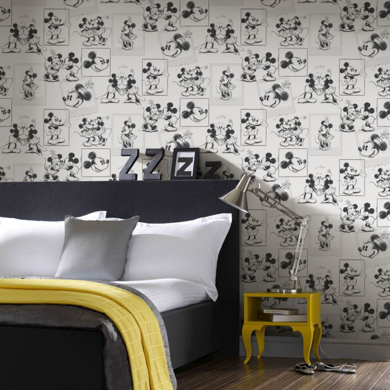 Noordwand Kids@Home Inidvidual behang Mickey and Minnie Sketch 102712
