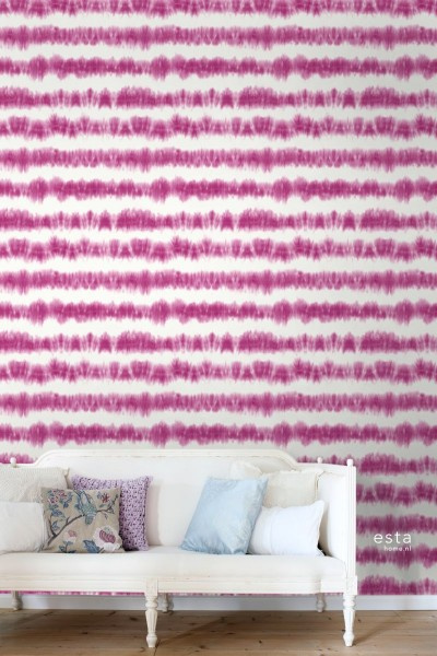 Esta Home Boho Chic Tie-dye streep behang 148688