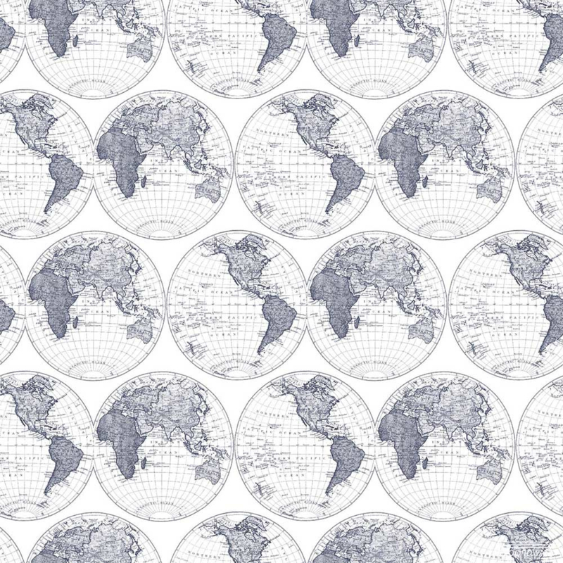 Noordwand Deauville Wereldkaarten behang G23043