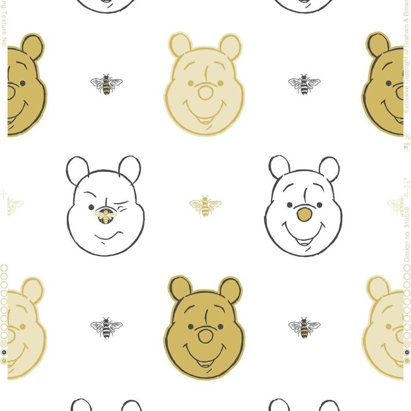 Noordwand Kids@Home Inidvidual behang Bee Winnie the Pooh 106604