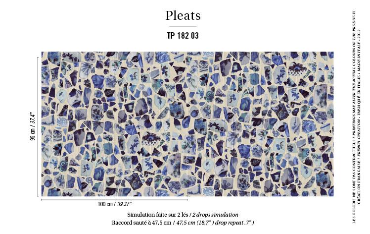 Élitis Pleats behang Portobello TP18203