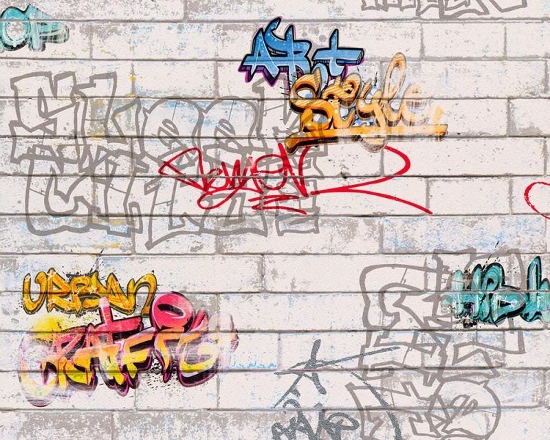 AS Creation Boys and Girls 93561-1 Graffiti behang
