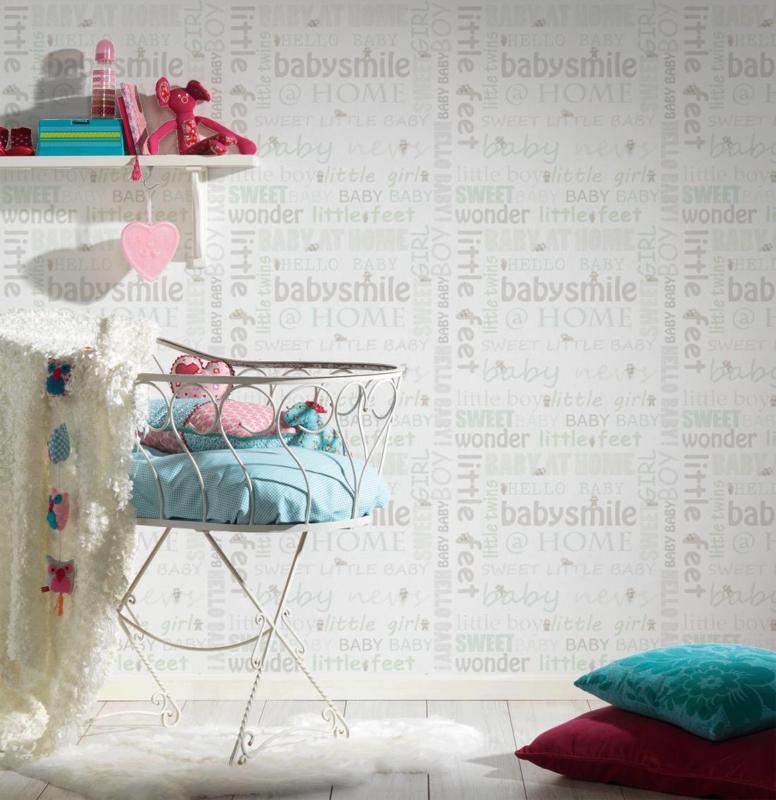 AS Creation Little Stars Babysmile behang 35847-2