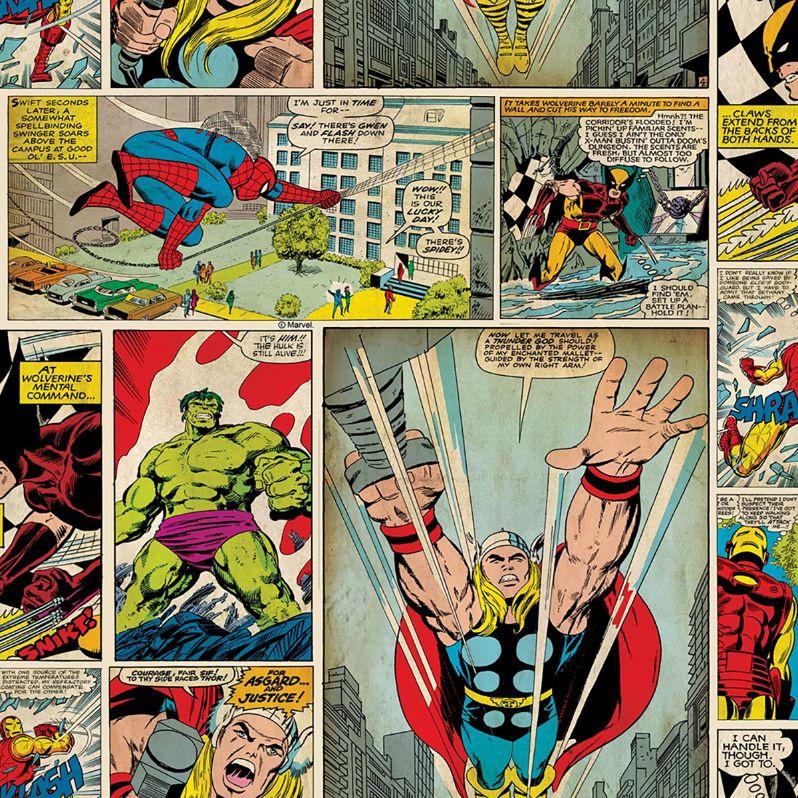 Noordwand Kids@Home Inidvidual behang Marvel Comic Strip 70-264