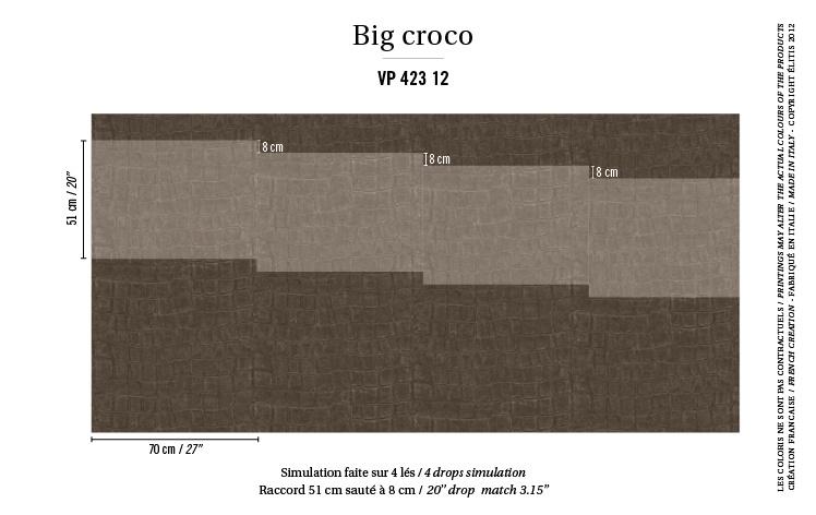 Élitis Anguille Big Croco Galuchat Big Croco behang VP 42312