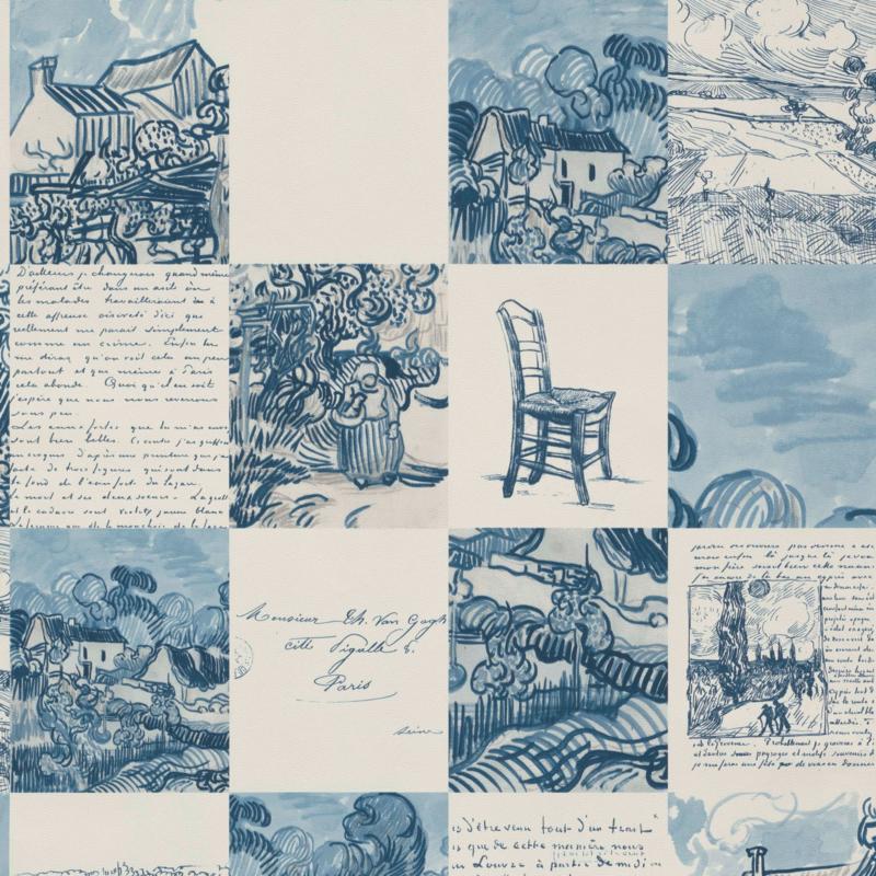 BN Van Gogh 2 behang Schetsen en Brieven 220031