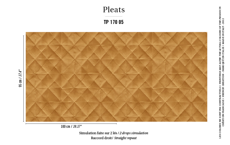 Élitis Pleats behang Mis en Plis TP 17005