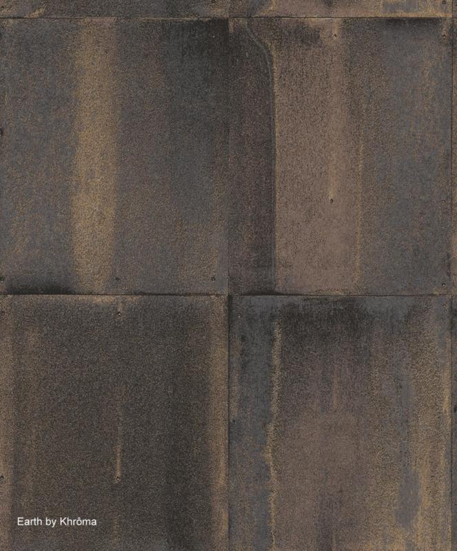 Khrôma Earth behang Morsus Bronze EAR404