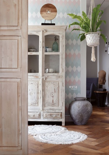 Esta Home Boho Chic Wieber ruit behang 148679