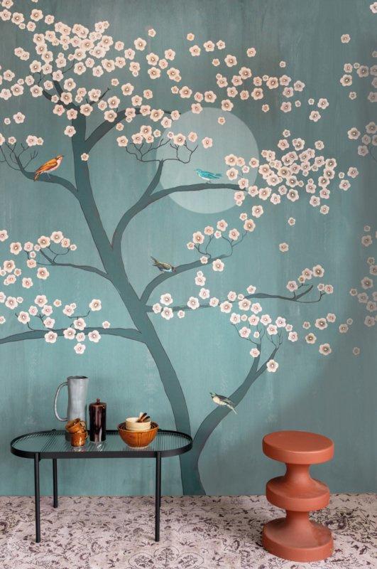 Onszelf Amazing behang Underneath Cherry Tree in Moonlight 542134
