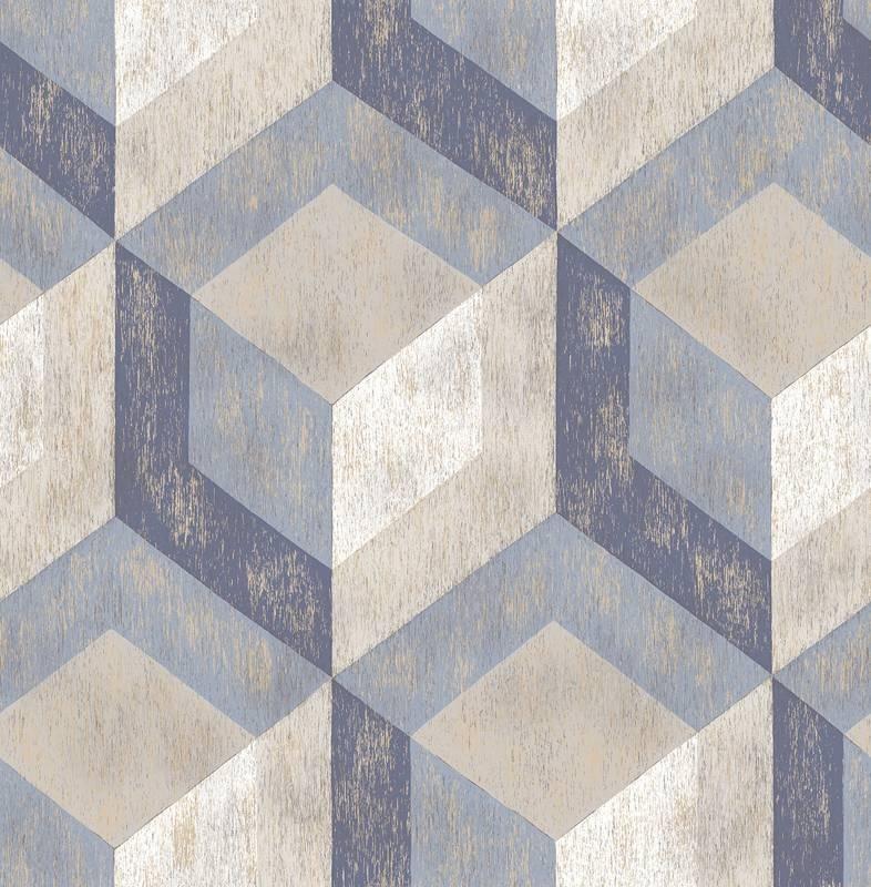 Dutch Reclaimed behang FD22311 Rustic Wood Tile