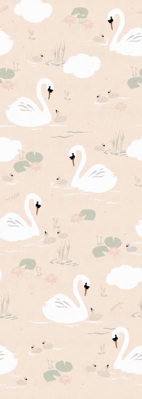 Behangexpresse Kate & Andy Wallprint Swans INK7477