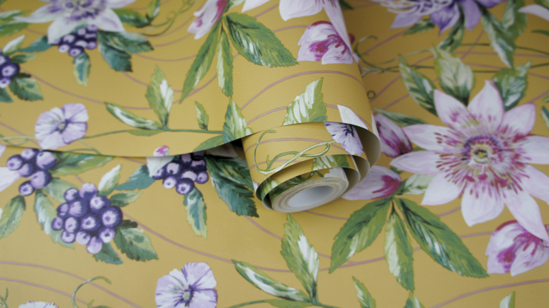 Dutch First Class Amazonia behang Passiflora Ochre 91321