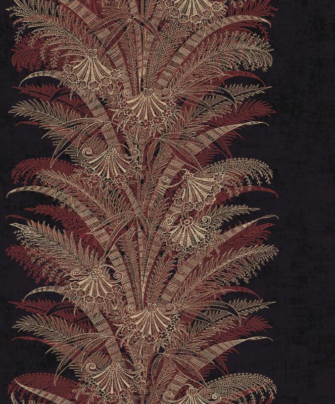 Khrôma Cabinet of Curiosities behang Verdura Burgundy CAB101