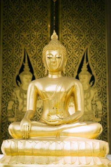 No Limits Fotobehang Buddha gold 30027