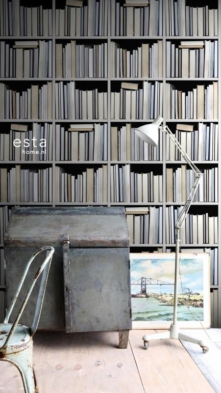Esta Home Vintage Rules! WallpaperXXL Boekenplanken 158205