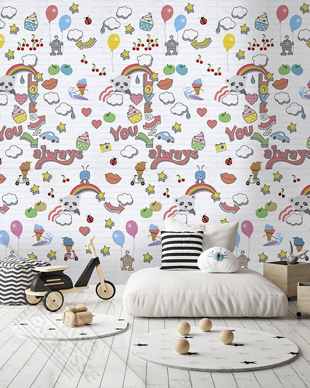 Behangexpresse Abby & Bryan Wallprint Graffiti Baby INK 7236