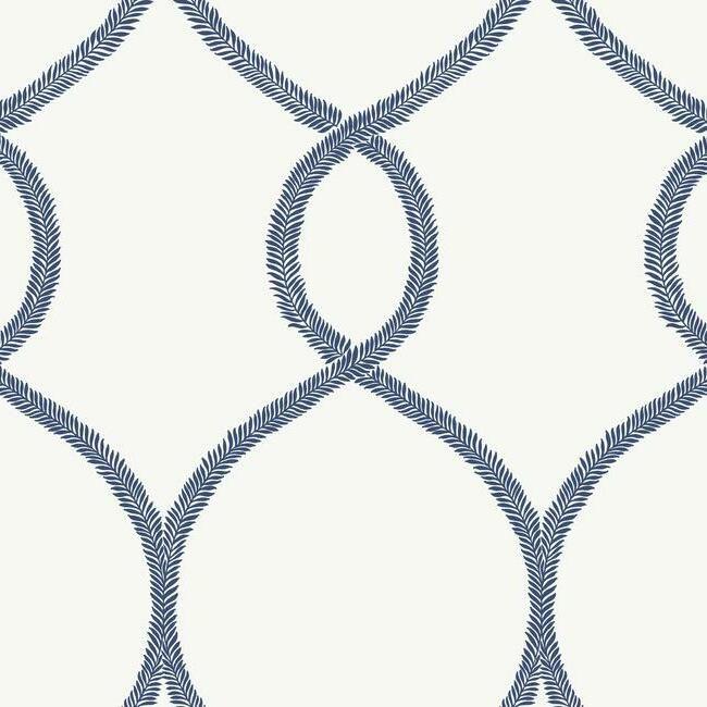 York Wallcoverings Ronald Redding 24 Karat behang Laurel Leaf Ogee KT2232