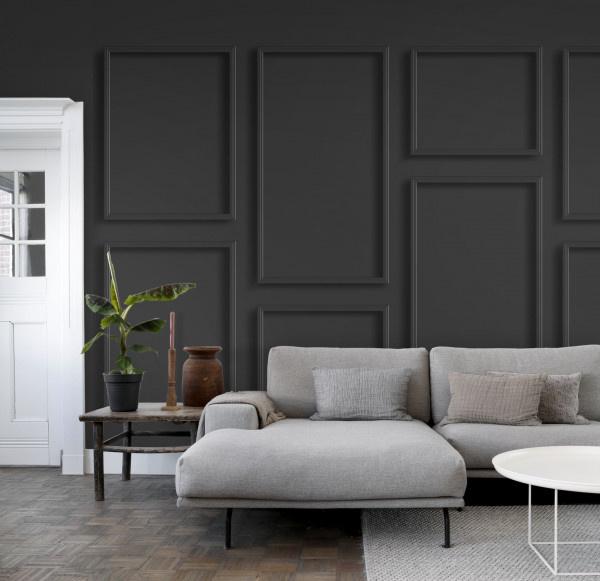 Esta Home Black & White - with a splash of gold behang PhotowallXL Wall Panelling 158940